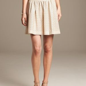 Banana Republic Laser Cut Faux-Leather Skirt